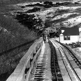 Because of the steep quarter-mile climb up to the lighthouse, a tramway system was installed in 1895. It is Maine's last working tramway!